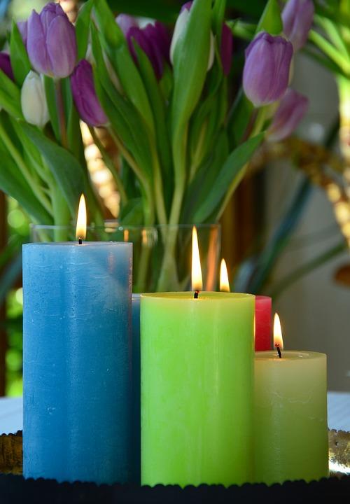 Moederdag cadeau kaarsen
