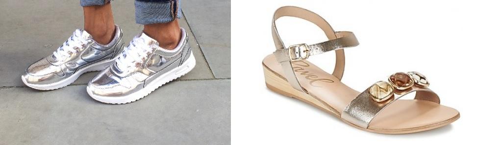schoenentrends metallic