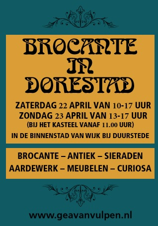 weekendtips april brocante in dorestad