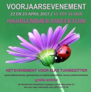 weekendtips april voorjaarsevenement haarlemmer Kweektuin