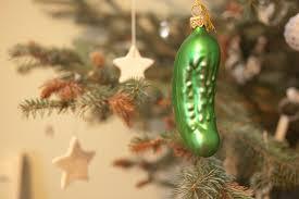 vreemde kersttradities augurk ornament