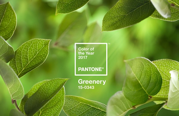 Greenery modekleur 2017 Pantone