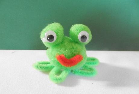 DIY voor kinderen pijpenrager kikker