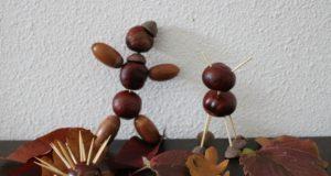 Herfst knutselen met kastanjes, eikels en denneappels