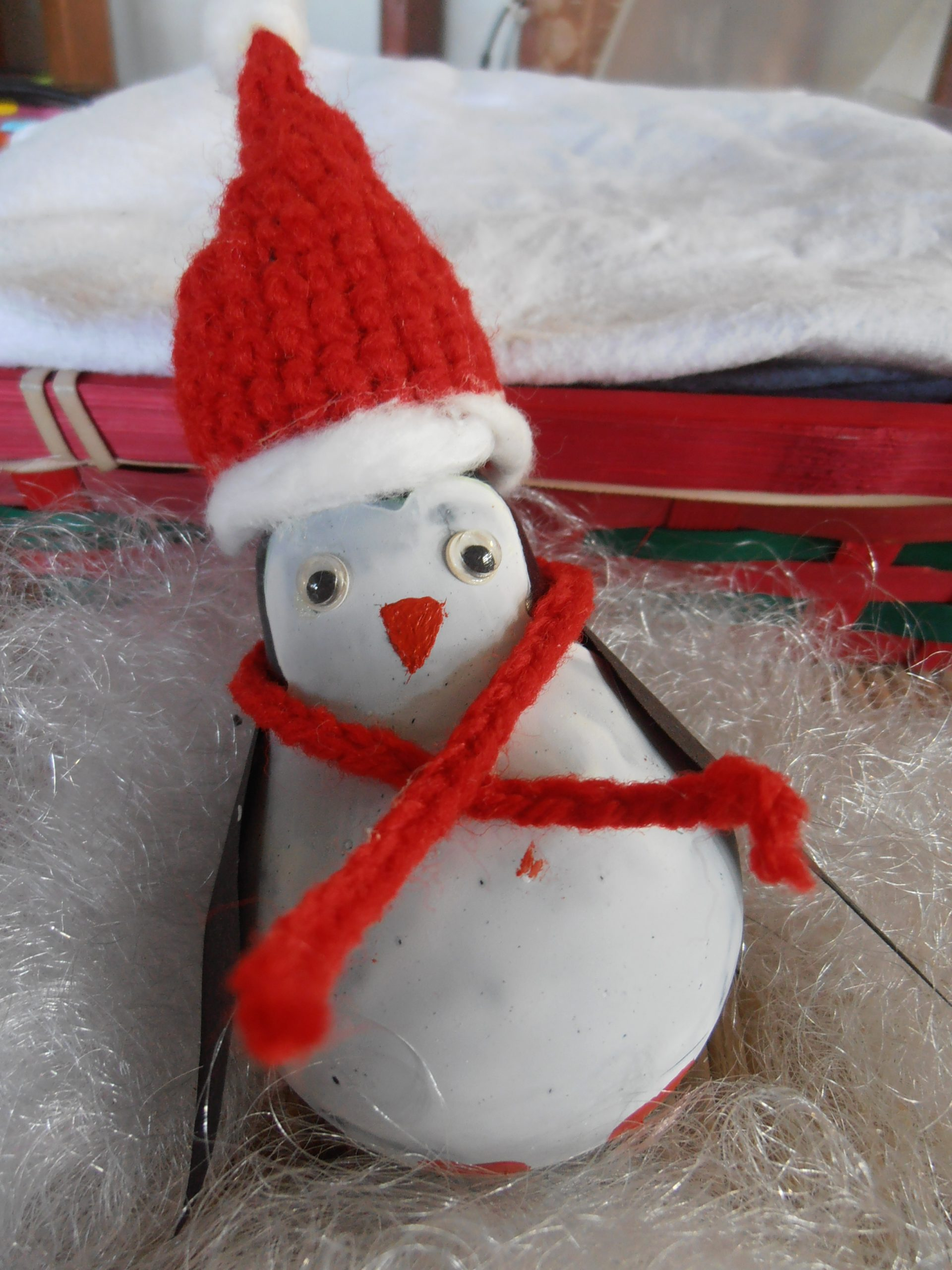 Kerst DIY pinguin ornament maken