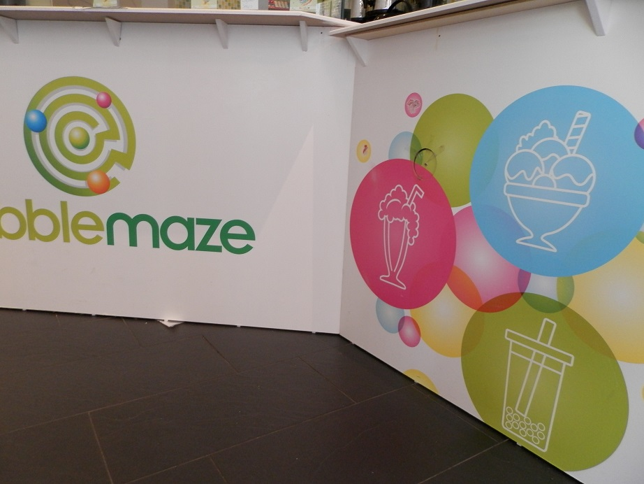 bubble maze toonbank