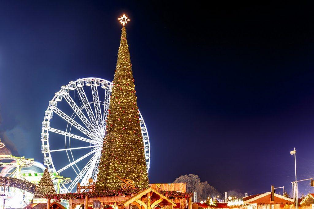 kerstshoppen op kerstmarkt londen hyde park