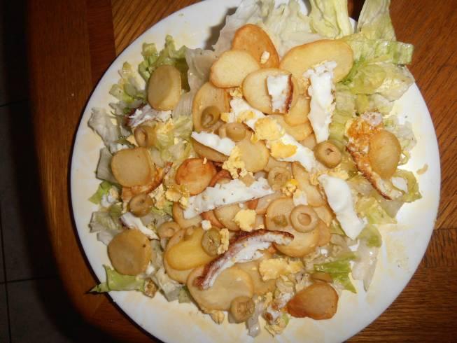 recept salade met gebakken aardappelen 003