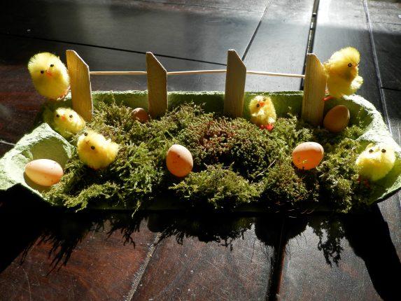 makkelijk DIY tafelstuk voor Pasen