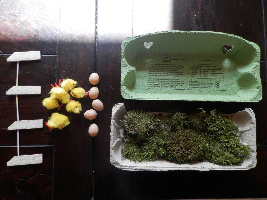 makkelijk DIY tafelstuk voor Pasen 2