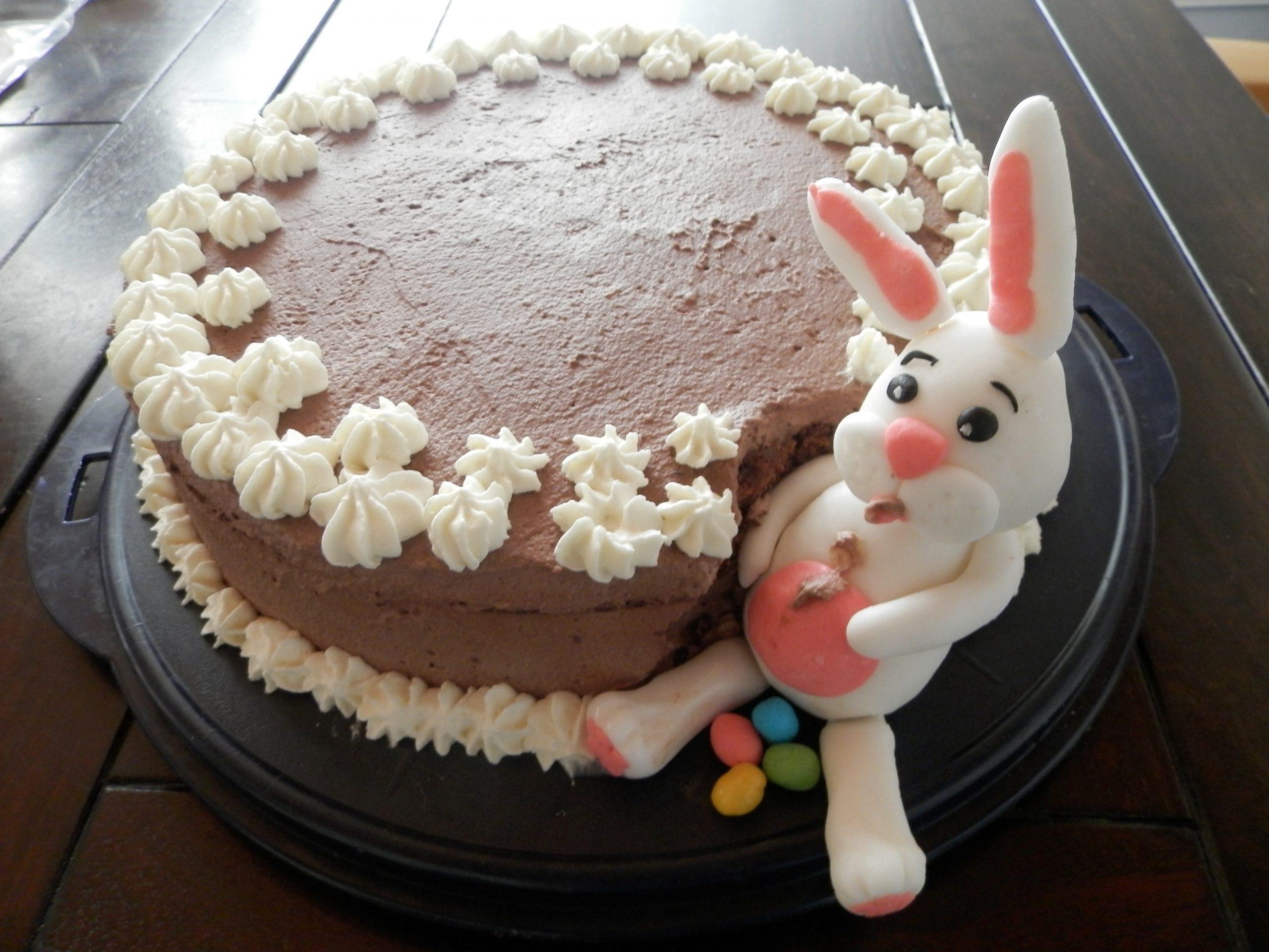 recept paashaas chocolade taart