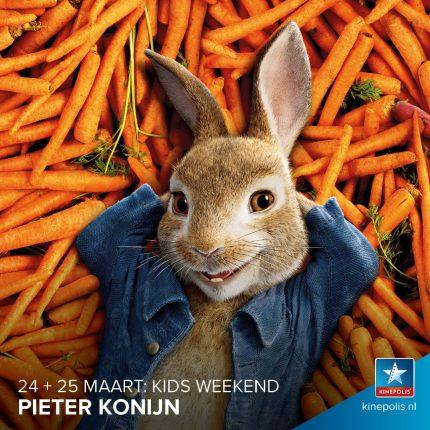 winactie 2 vrijkaarten pieter konijn kids weekend