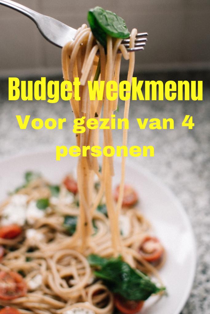 Budget weekmenu