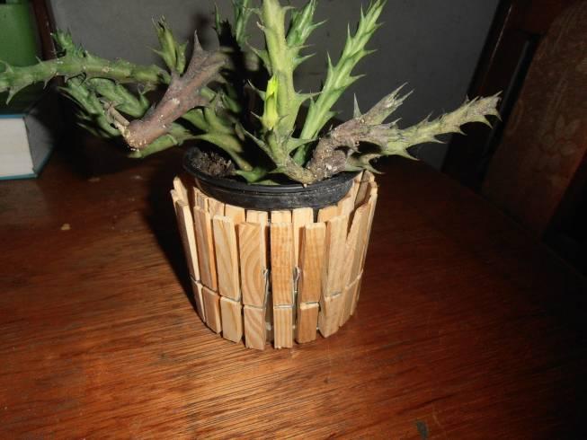 decoratieve bloempot theelichter knutselen 004