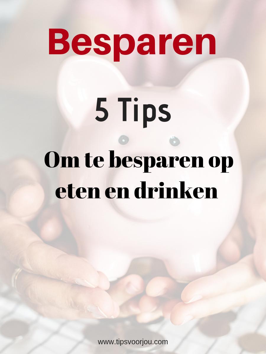 tips besparen op eten en drinken