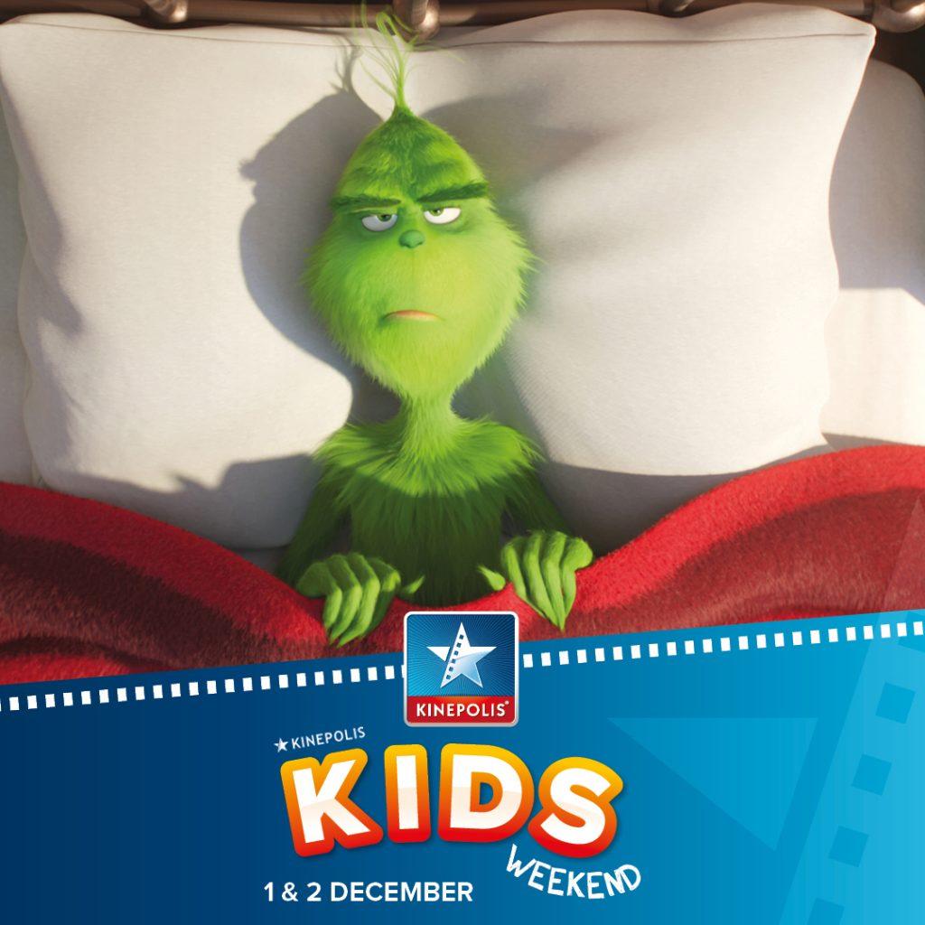 Win 2 vrijkaarten voor De Grinch en het kidsweekend bij Kinepolis 1
