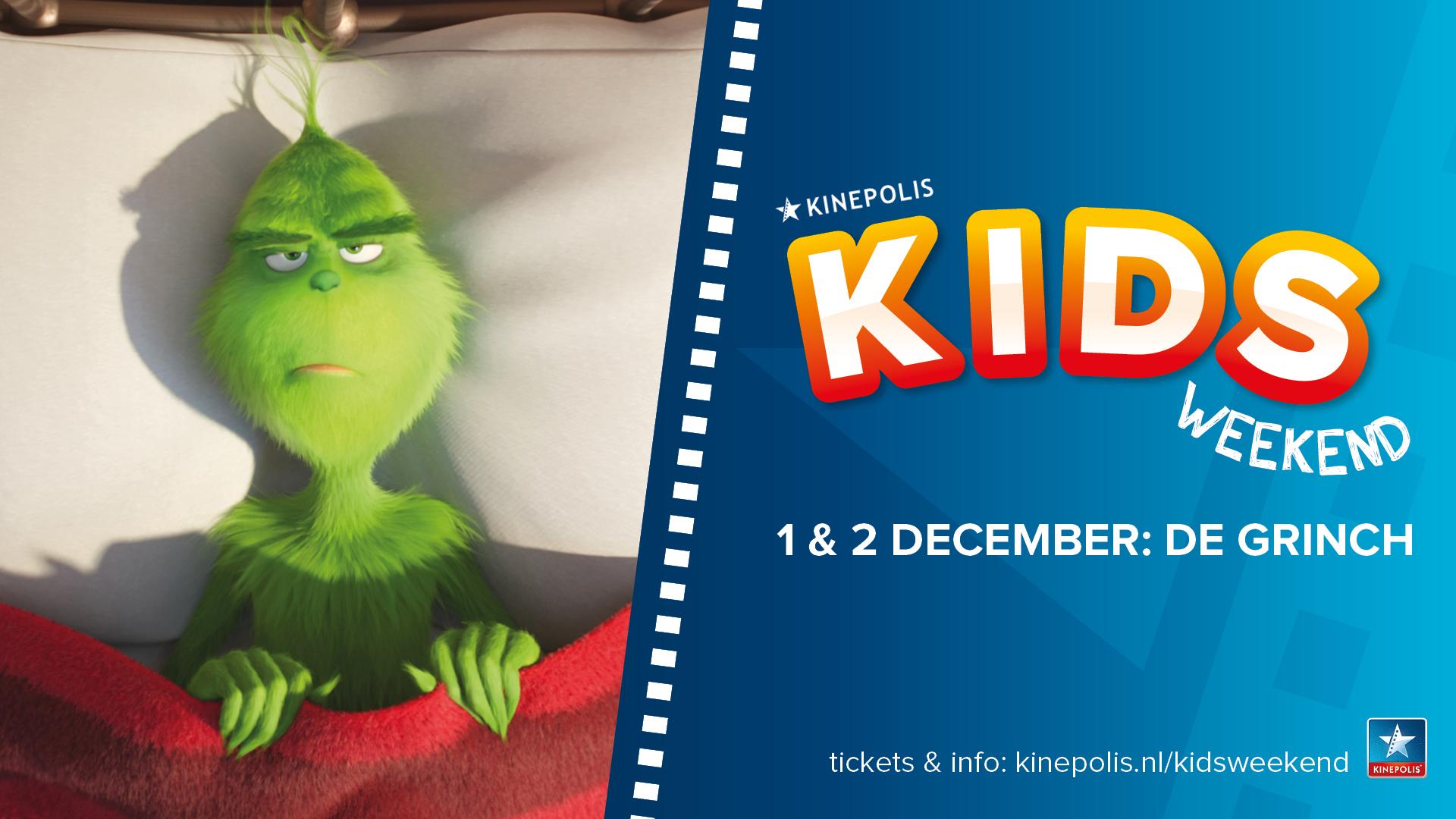 Win 2 vrijkaarten voor De Grinch en het kidsweekend bij Kinepolis