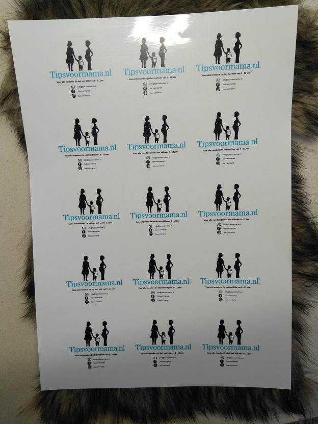 Visitekaartjes en stickers van studentendrukwerk inclusief winactie 1