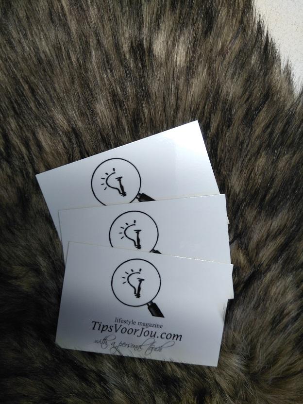 Visitekaartjes en stickers van studentendrukwerk inclusief winactie 2
