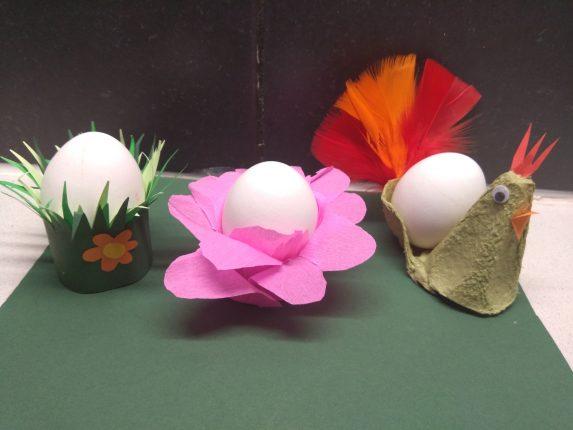 Eierdopjes knutselen voor Pasen