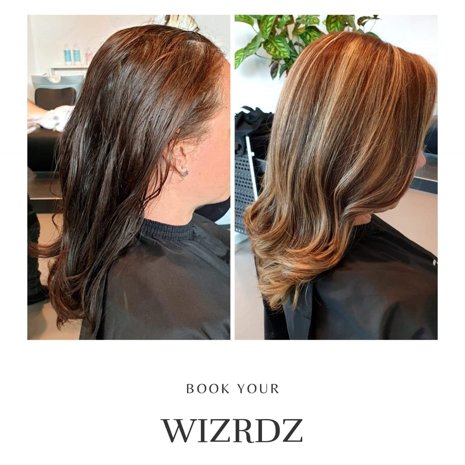 Haar make over van salon Wizrdz