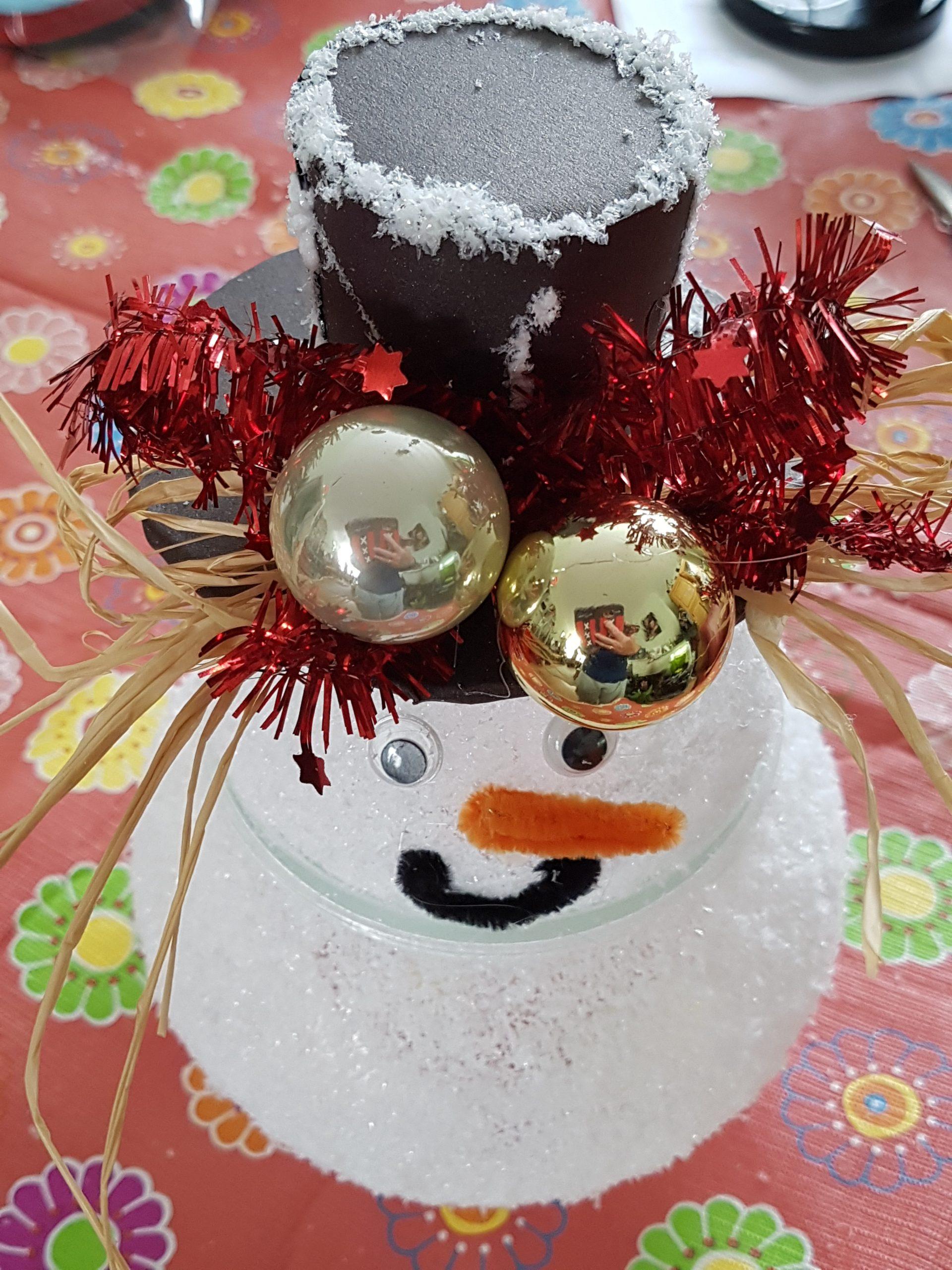DIY Sneeuwpop met lichtje maken