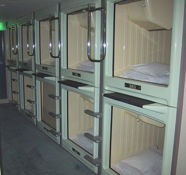 Aparte, bijzondere en bizarre hotels en slaapplekken capsulehotel japan