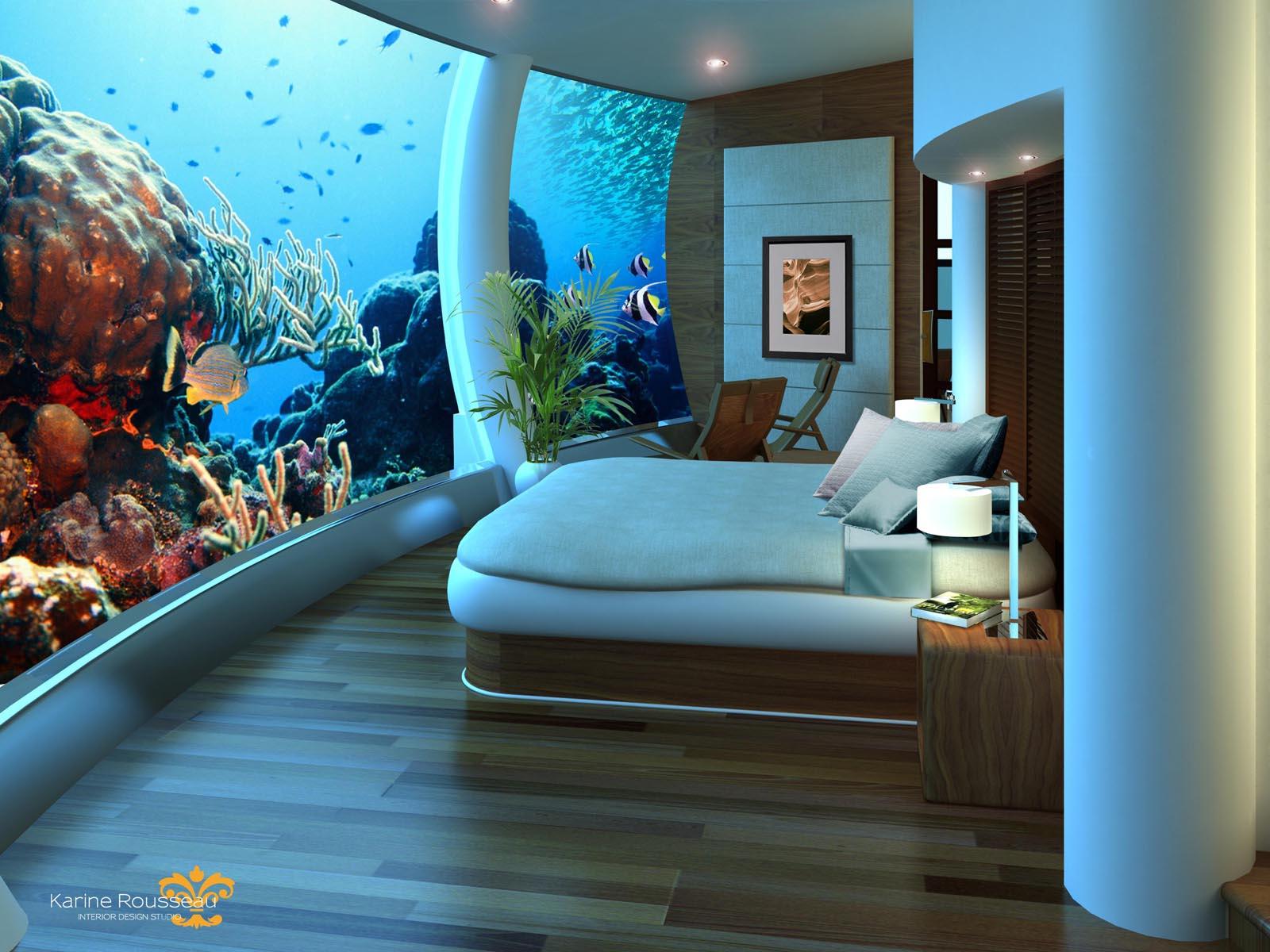 Aparte, bijzondere en bizarre hotels en slaapplekken poseidon underwater resort