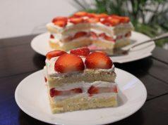 Recept Japanse fluffy cake met aardbeien