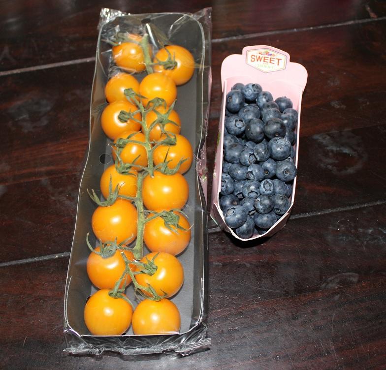 Ontdek de Fitbox 2020 gele tomaten en blauwe bessen