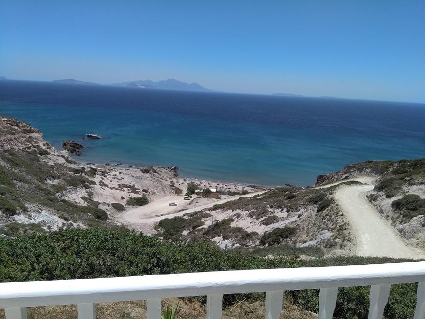De leukste stranden van Kos Camel beach uitzicht van boven