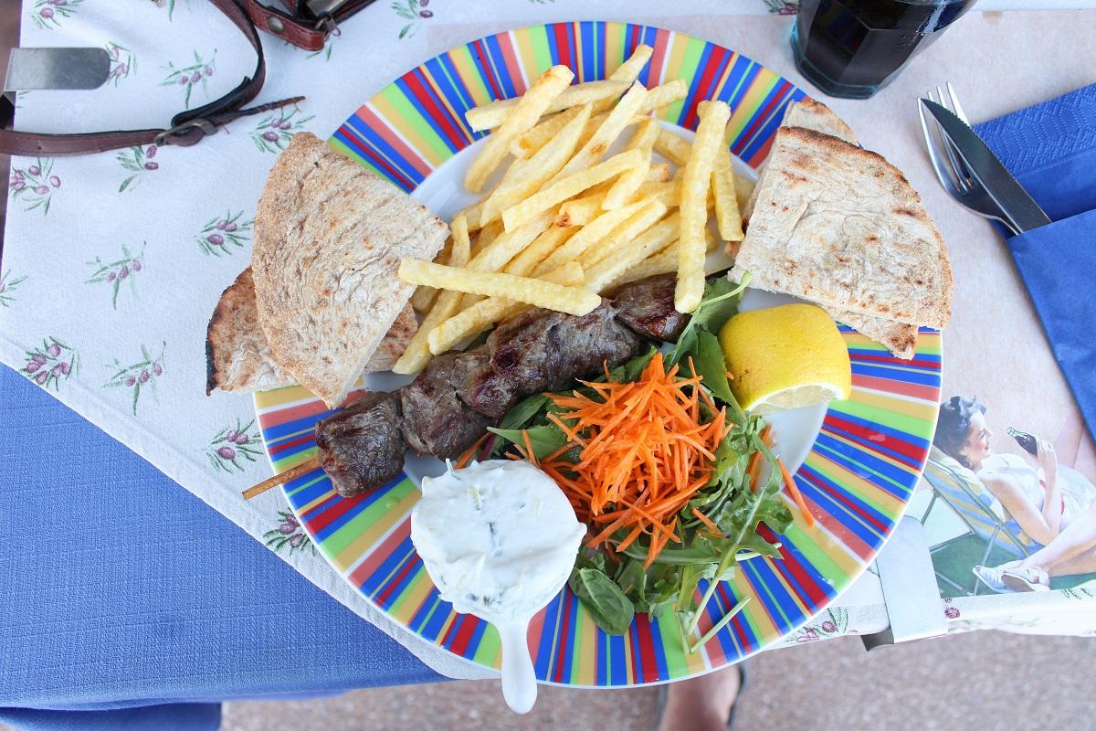Tips voor lekkere en betaalbare restaurants op Kos Blue note taverna souvlaki