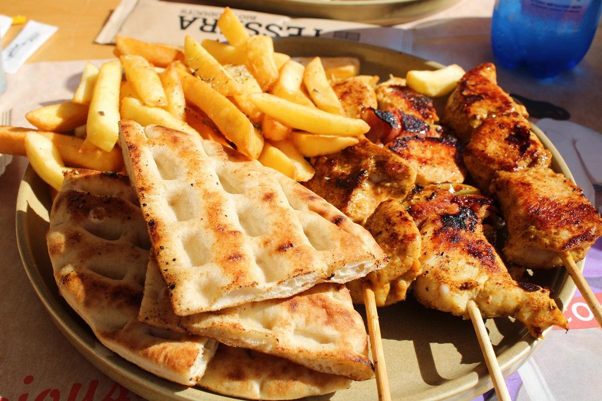 Tips voor lekkere en betaalbare restaurants op Kos GyroSquare souvlaki