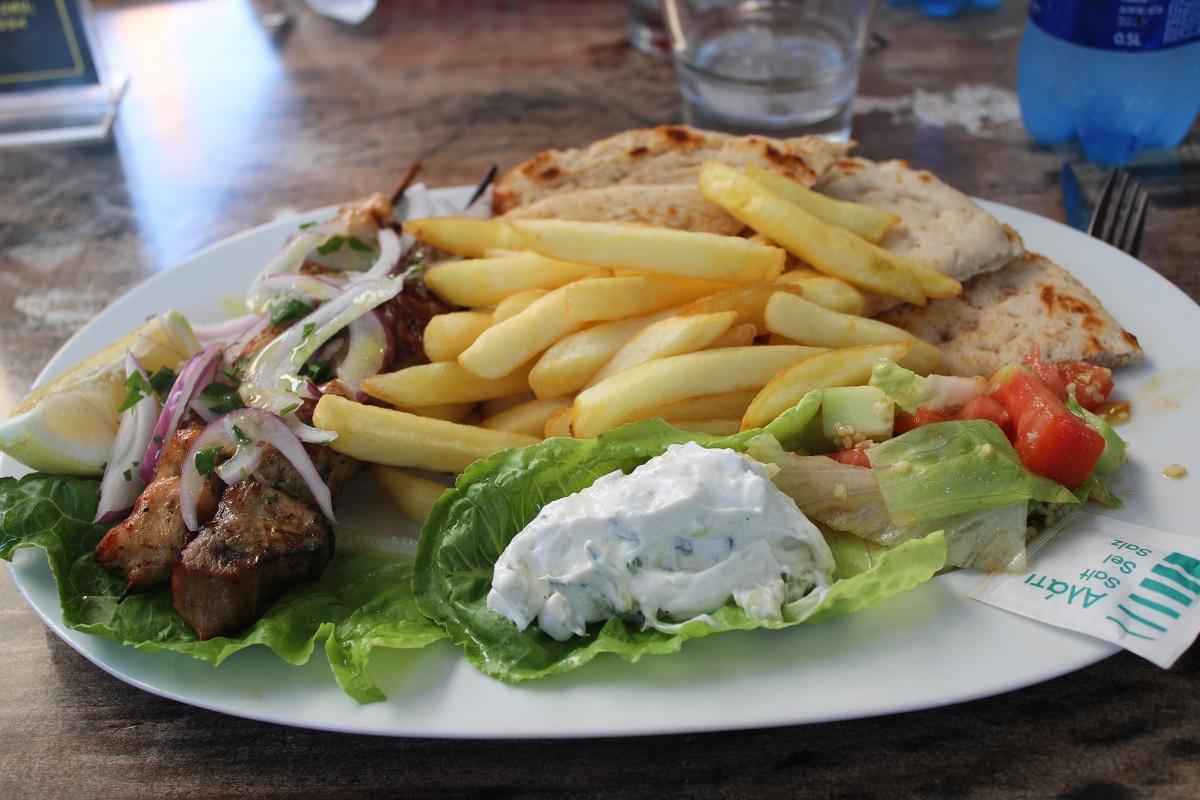 Tips voor lekkere en betaalbare restaurants op Kos Pita way souvlaki