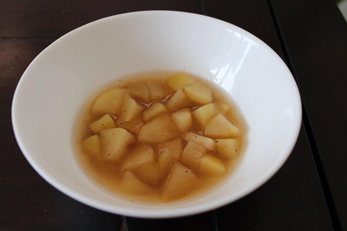 Heerlijk recept peren compote schaaltje
