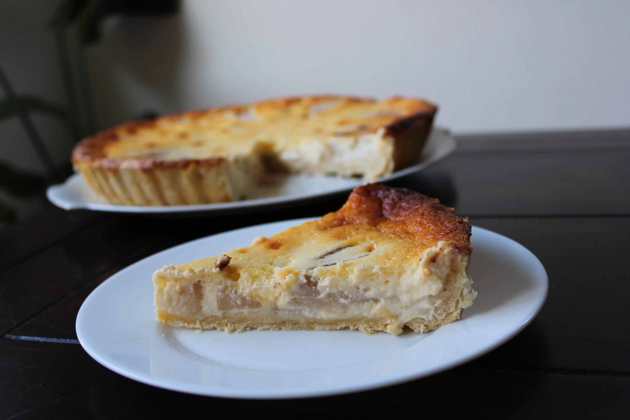 Recept peren crème taart