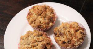 Recept peren kruimel muffins