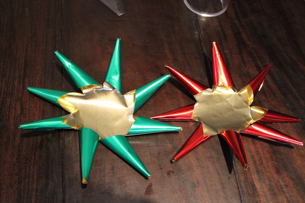 DIY 3D Kerstster theelichthouder 2 sterren