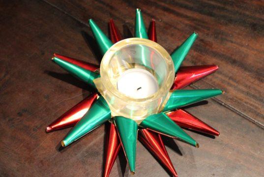 DIY 3D Kerstster theelichthouder