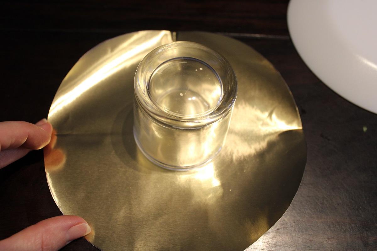 DIY 3D Kerstster theelichthouder midden cirkel