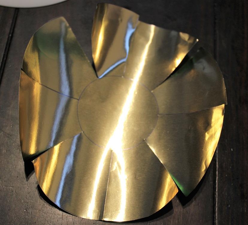 DIY 3D Kerstster theelichthouder zon