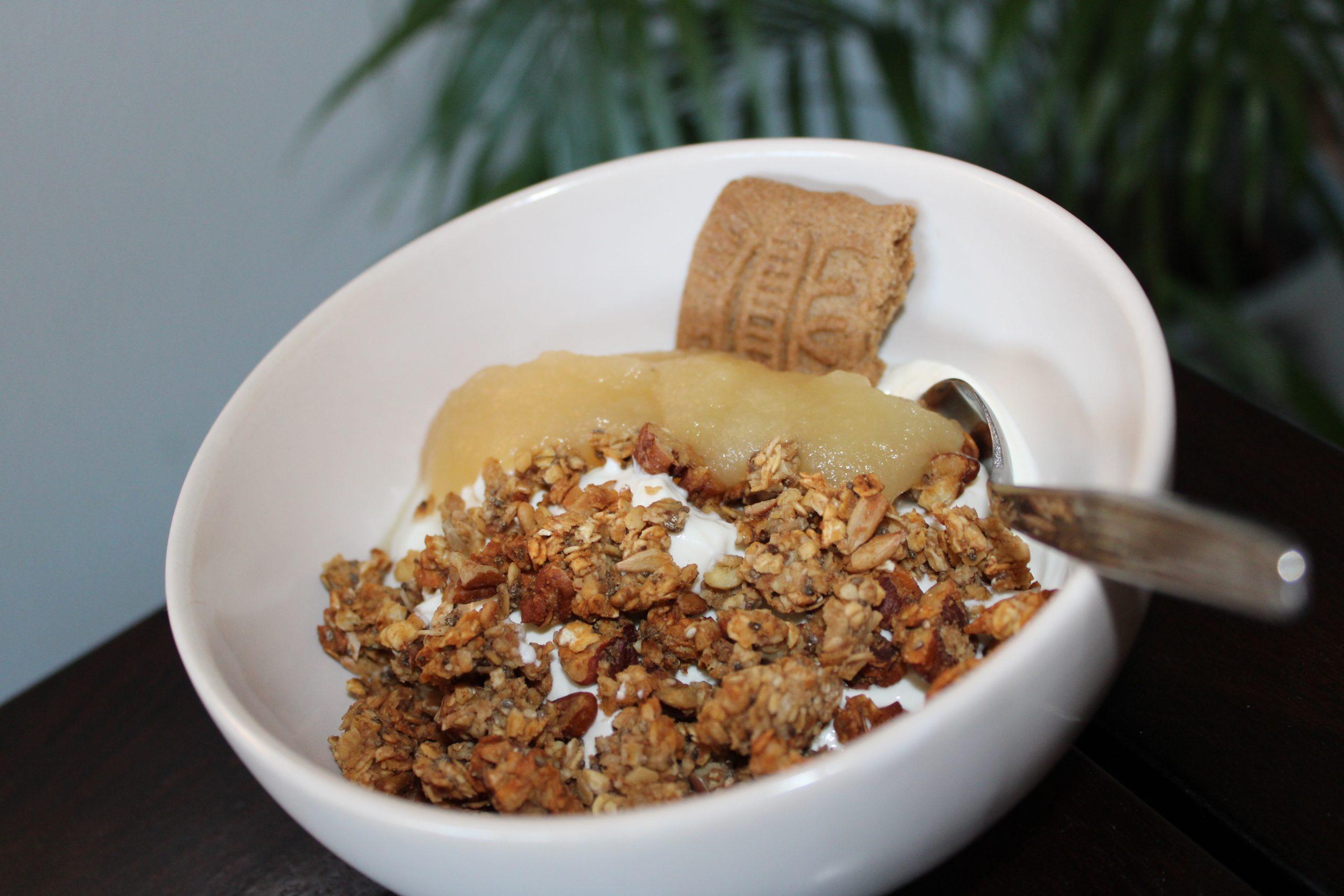 Appel speculaas granola zelf maken yoghurt