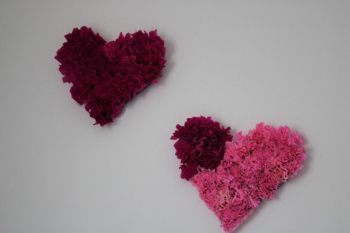Makkelijke en snelle DIY voor Valentijn wanddecoratie