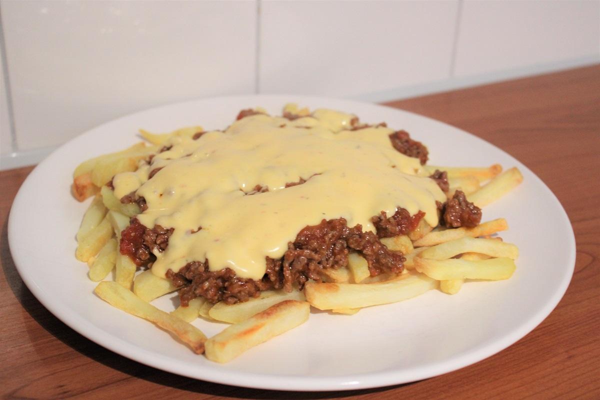 Recept loaded fries sloppy joe