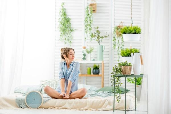 Tips voor het inrichten van een gezonde slaapkamer planten
