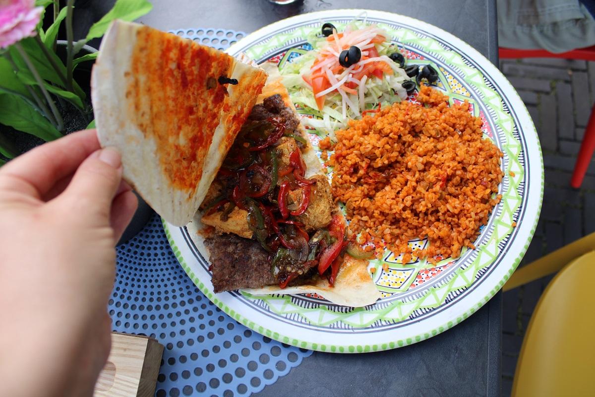 Uit eten bij Multifood in Arnhem mix met bulgur