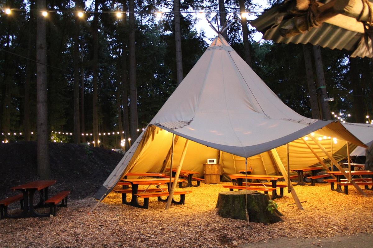 Burgers' Zoo Camp overnachten in de dierentuin chill area