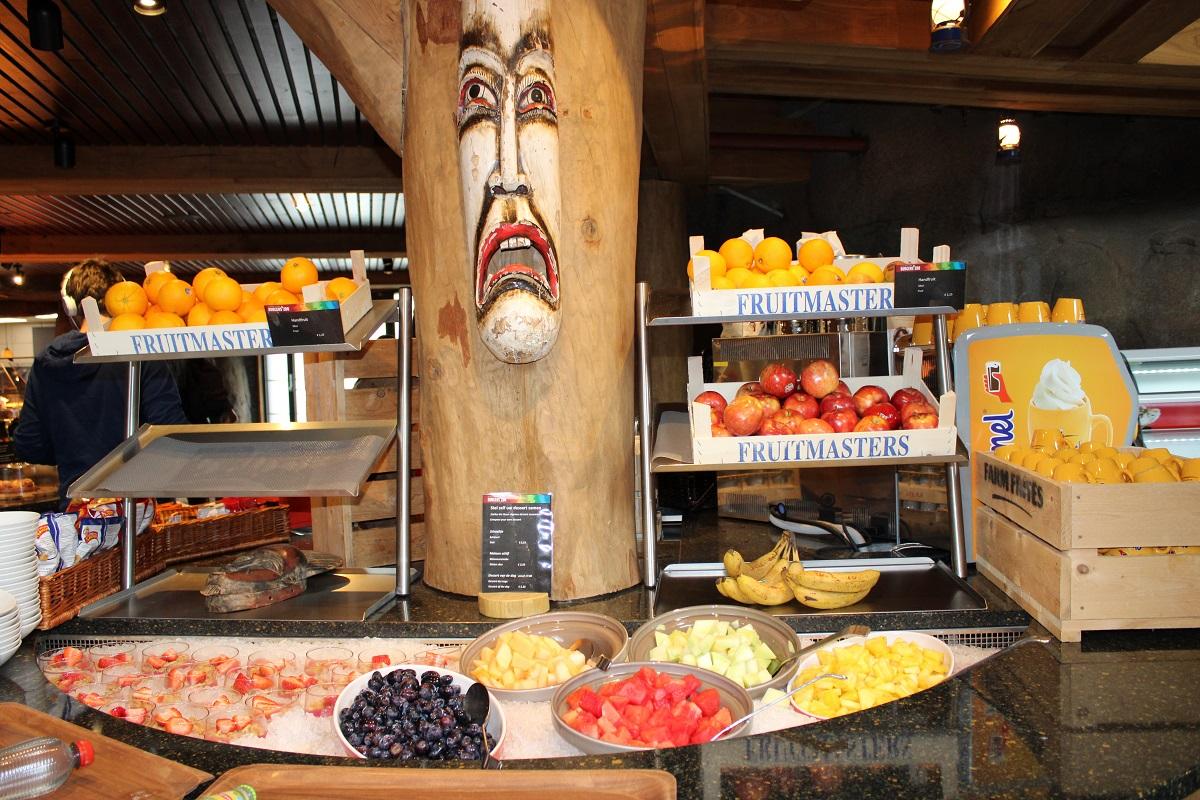 Burgers' Zoo Camp overnachten in de dierentuin dinerbuffet fruit